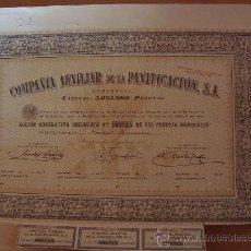 Coleccionismo Acciones Españolas: COMPAÑIA AUXILIAR DE LA PANIFICACION 1945 BARCELONA*. Lote 38812479