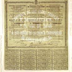 Coleccionismo Acciones Españolas: ACCIÓN DE LA COMPAÑÍA DE LOS FERROCARRILES DE ZARAGOZA A ESCATRÓN Y DE VAL DE ZAFÁN (1872). Lote 58329952