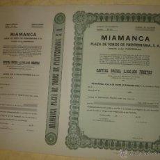 Coleccionismo Acciones Españolas: MIAMANCA - PLAZA DE TOROS DE FUENTERRABIA - ACCION EN BLANCO. Lote 61683736