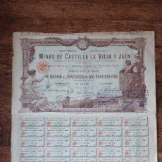 Coleccionismo Acciones Españolas: MINAS DE CASTILLA LA VIEJA Y JAEN, 1902. Lote 40309514