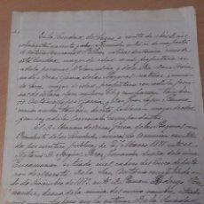 Coleccionismo Acciones Españolas: S. XIX DOCUMENTO MANUSCRITO ARRENDAMIENTO MINAS MORATA LORCA MURCIA. Lote 40591646