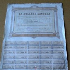 Colecionismo Ações Espanholas: LA HULLERA LEONESA - 1896 LEÓN. Lote 40732094