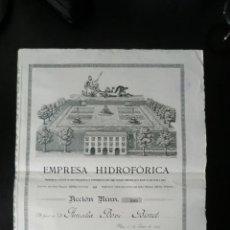 Collectionnisme Actions Espagne: ACCION EMPRESA HIDROFORICA REUS AÑO 1907 -LIQ.COLECCIÓN-. Lote 40834460