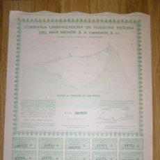 Coleccionismo Acciones Españolas: ACCION COMPAÑIA URBANIZADORA NUESTRA SEÑORA DEL MAR MENOR ( URMENOR, S.A.) 1965. Lote 40998180
