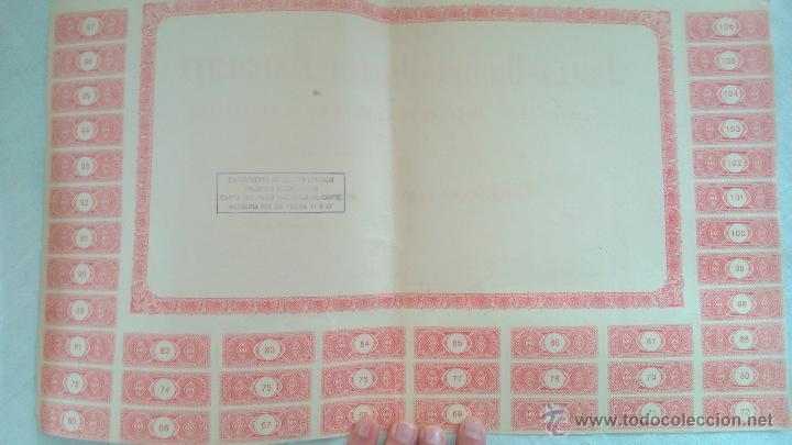Coleccionismo Acciones Españolas: EMPRESTITO ACCION OBLIGACION 1956 JUNTA OBRAS PUERTO ALICANTE 1000 PESETAS - Foto 2 - 41791408