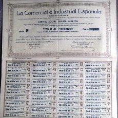 Coleccionismo Acciones Españolas: ACCIÓN. LA COMERCIAL E INDUSTRIAL ESPAÑOLA. MADRID 1911. .. Lote 41875815