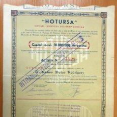 Coleccionismo Acciones Españolas: ACCIÓN NOMINATIVA CONSTITUCIÓN HOTURSA. 1958. Lote 42561961