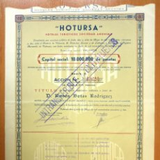 Coleccionismo Acciones Españolas: ACCIÓN NOMINATIVA CONSTITUCIÓN HOTURSA. 1952. Lote 42567886