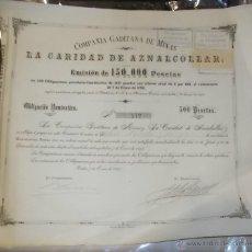 Collezionismo Azioni Spagnole: ACCION. COMPAÑIA GADITANA DE MINAS. LA CARIDAD DE AZNALCOLLAR. 1893.. Lote 57939221