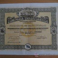 Coleccionismo Acciones Españolas: REPRODUCCION COMPAÑIA TRASATLANTICA 1946. Lote 42855748