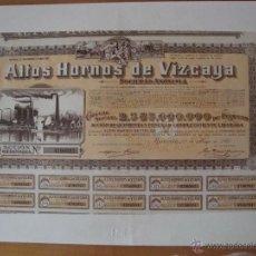 Coleccionismo Acciones Españolas: REPRODUCCION ALTOS HORNOS DE VIZCAYA 1960. Lote 42868798