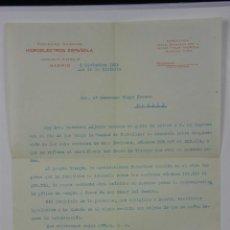 Coleccionismo Acciones Españolas: SOCIEDAD ANÓNIMA HIDROELÉCTRICA ESPAÑOLA MADRID NOVIEMBRE 1939 IMPRESO DESPOSESIÓN ACCIONES. Lote 42967260