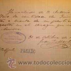 Coleccionismo Acciones Españolas: DESAGÜE DE LAS MINAS AURORA DE MAZARRON MURCIA 1908. Lote 43029605