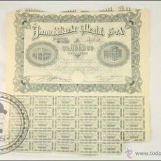 Coleccionismo Acciones Españolas: ACCIÓN INMOBILIARIA ALCALÁ SA - 500 PESETAS - AÑO 1946 - MADRID. Lote 43301566