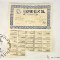 Coleccionismo Acciones Españolas: ACCIÓN HERCULES FILMS SA - 500 PESETAS - AÑO 1942 - MADRID. Lote 43301660