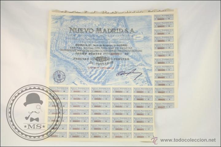 ACCIÓN NUEVO MADRID SA - 500 PESETAS - AÑO 1946 - MADRID (Coleccionismo - Acciones Españolas)