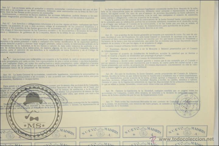 Coleccionismo Acciones Españolas: Acción Nuevo Madrid SA - 500 Pesetas - Año 1946 - Madrid - Foto 2 - 43302667