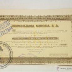 Coleccionismo Acciones Españolas: ACCIÓN INMOBILIARIA GERONA SA - 1000 PESETAS - AÑO 1946 - GERONA. Lote 43303095