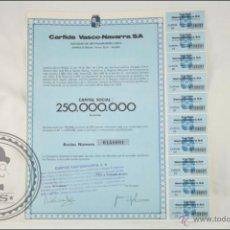 Coleccionismo Acciones Españolas: ACCIÓN CARFIDE VASCO-NAVARRA, SA - 500 PESETAS - AÑO 1974 - BILBAO. Lote 43305342