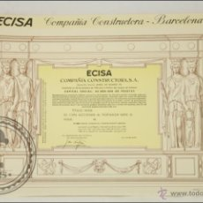 Coleccionismo Acciones Españolas: ACCIÓN ECISA, COMPAÑÍA CONSTRUCTORA, SA - 500 PESETAS - AÑO 1970 - MADRID. Lote 43305356