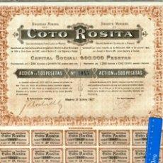 Coleccionismo Acciones Españolas: JAEN, LINARES SOCIEDAD MINERA COTO ROSITA . Lote 43507131