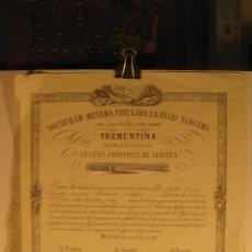 Coleccionismo Acciones Españolas: ACCIÓN SOCIEDAD MINERA,1851. Lote 44367350