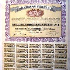 Coleccionismo Acciones Españolas: ACCIÓN. TABLEROS DE FIBRAS. MADRID 1973. .. Lote 44472414