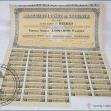 Coleccionismo Acciones Españolas: ACCIÓN MARCELINO IBAÑEZ DE BETOLAZA SA - 500 PESETAS - AÑO 1941 - BILBAO. Lote 44942830