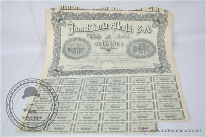 ACCIÓN INMOBILIARIA ALCALÁ SA - 500 PESETAS - AÑO 1946 - MADRID (Coleccionismo - Acciones Españolas)