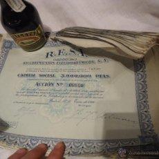 Coleccionismo Acciones Españolas: LOTE DE ACCIONES 25 UNIDADES DE 1946 R.E.S.A. Lote 43458737