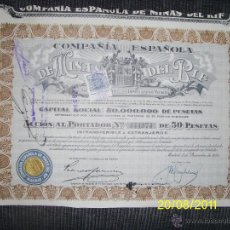 Coleccionismo Acciones Españolas: ACCION MINAS DEL RIF. Lote 46705508