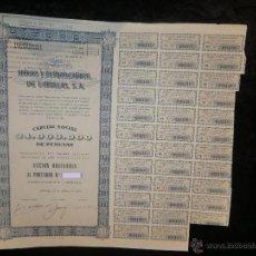 Coleccionismo Acciones Españolas: ACCIÓN MINAS Y FERROCARRILES DE UTRILLAS, S.A. 1952. Lote 62556687