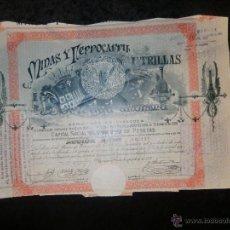 Coleccionismo Acciones Españolas: ESPLÉNDIDA ACCIÓN DEL AÑO 1902 DE LAS MINAS DE UTRILLAS. Lote 47094773
