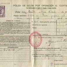 Coleccionismo Acciones Españolas - Poliza de bolsa por operación al contado. Bolsa de Madrid 1923 - 47304909