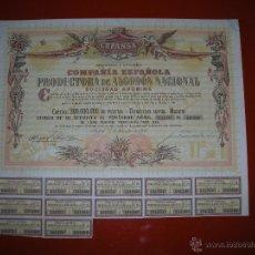 Coleccionismo Acciones Españolas: CEPANSA.COMPAÑIA ESPAÑOLA PRODUCTORA DE ALGODÓN NACIONAL.MADRID.1956.TITULO DE 10 ACCIONES.. Lote 47346369