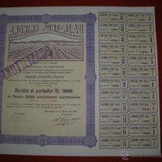Coleccionismo Acciones Españolas: ANÓNIMA PUNT-BLAU.BARCELONA.AÑO 1931.ACCIÓN DE 500 PESETAS.. Lote 47347149