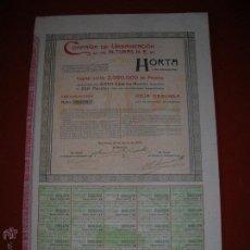 Coleccionismo Acciones Españolas: COMPAÑÍA DE URBANIZACIÓN DE LAS ALTURAS.N.E.DE HOTA( LAS ROQUETAS).BARCELONA.AÑO 1904.ACCIÓN DE 500 . Lote 47348063