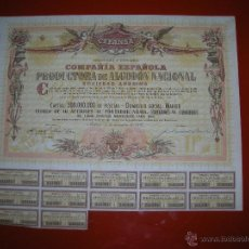 Coleccionismo Acciones Españolas: CEPANSA.COMPAÑIA ESPAÑOLA PRODUCTORA DE ALGODÓN NACIONAL.MADRID.1956.TITULO DE 10 ACCIONES.. Lote 47348213