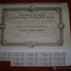 Coleccionismo Acciones Españolas: HILATURAS CARALT-PEREZ,S.A.BARCELONA.AÑO 1920. Lote 47348435