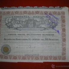 Coleccionismo Acciones Españolas: COMPAÑIA ESPAÑOLA DE MINAS DEL RIF.MADRID.AÑO 1935.ACCIÓN DE 50 PESETAS.. Lote 47348596