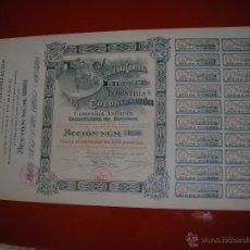 Coleccionismo Acciones Españolas: SOCIEDAD GENERAL DE RIEGOS, INDUSTRIAS Y COLONIZACIÓN.MADRID.ACCIÓN DE 500 PESETAS.. Lote 47494632