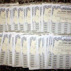 Coleccionismo Acciones Españolas: LOTE DE 82 ACCIONES DE LA ESPAÑA INDUSTRIAL. AÑO 1973. Lote 49301029