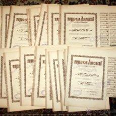 Coleccionismo Acciones Españolas: LOTE DE 47 ACCIONES DE TEJIDOS ARGEMI DEL AÑO 1939. TARRASSA. Lote 49301308