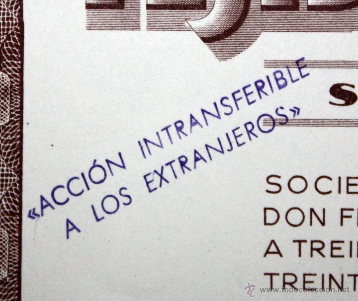 Coleccionismo Acciones Españolas: LOTE DE 47 ACCIONES DE TEJIDOS ARGEMI DEL AÑO 1939. TARRASSA - Foto 3 - 49301308