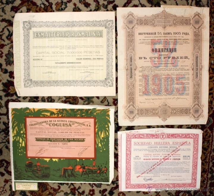 Coleccionismo Acciones Españolas: LOTE DE 83 ACCIONES VARIADAS. DIFERENTES TIPOS Y PAISES (RUSAS, POLACAS, ESPAÑOLAS...ETC) - Foto 3 - 49301515