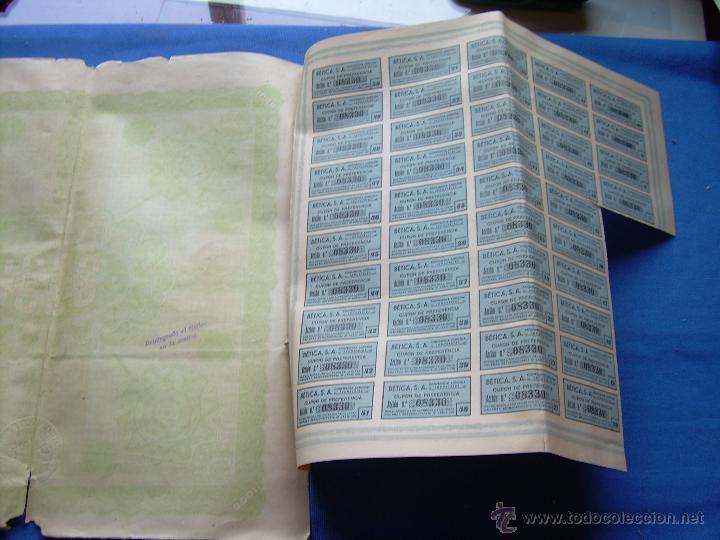 Coleccionismo Acciones Españolas: ACCION DE 1000 PESETAS DE LA SOCIEDAD ANONIMA COOPERATIVA AGRICOLA INDUSTRIAL - SEVILLA 1926 - Foto 2 - 49341777