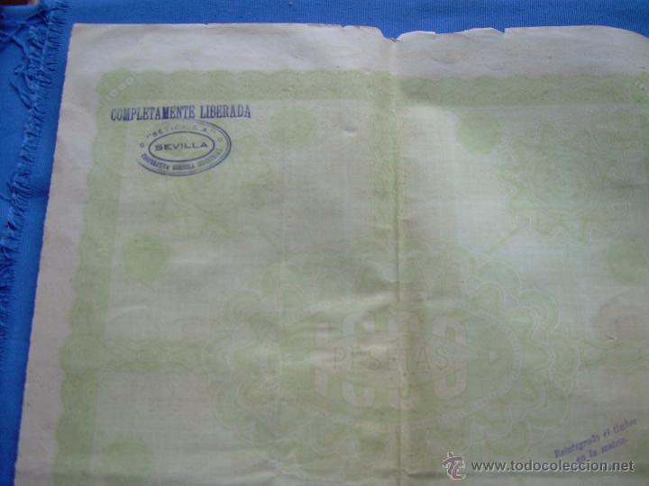 Coleccionismo Acciones Españolas: ACCION DE 1000 PESETAS DE LA SOCIEDAD ANONIMA COOPERATIVA AGRICOLA INDUSTRIAL - SEVILLA 1926 - Foto 4 - 49341777