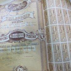 Coleccionismo Acciones Españolas: ACCIÓN SOCIEDAD MINERA DE VILLAODRID BILBAO AÑO 1900. Lote 49397732