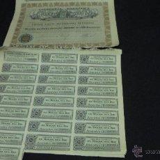Coleccionismo Acciones Españolas: LOTE DE 6 ACCIONES DE 50 PESETAS DE LAS MINAS DEL RIF AÑO 1928. CON 25 CUPONES CADA ACCION.. Lote 49530308