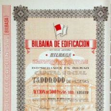 Coleccionismo Acciones Españolas: BILBAINA DE EDIFICACION 1948. Lote 49838794